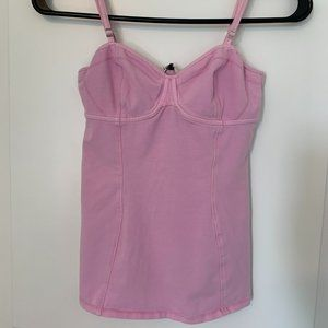 Aritzia Talula Bustier Style Tank Top - Pink, Size Small
